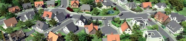 Virtueller Musterhauspark, 3D-Musterhauspark, Architektur-Visualisierung, 3D-Intro-Film (Flash-Player)