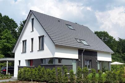 Haus bauen modern satteldach  Massivhaus bauen, schlüsselfertiges bauen zum Festpreis, modernes ...