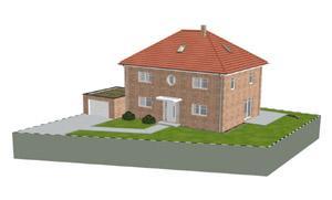 Stadtvilla Landhausstil aktuelles einfamilienhaus planungen 3d architektur