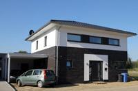 Stadtvilla klinker schwarz  Grundrissidee Stadtvilla Massivhaus Warendorf Telgte, Haus bauen ...